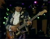 Stevie Ray Vaughan med gitarr